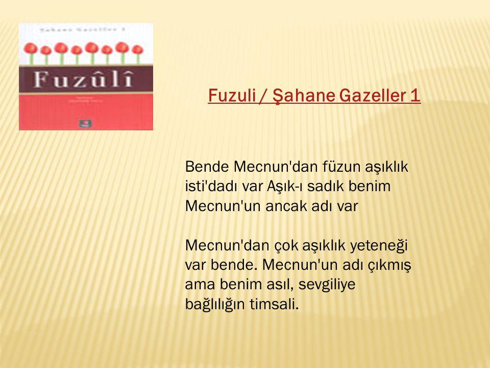 Fuzuli / Şahane Gazeller 1