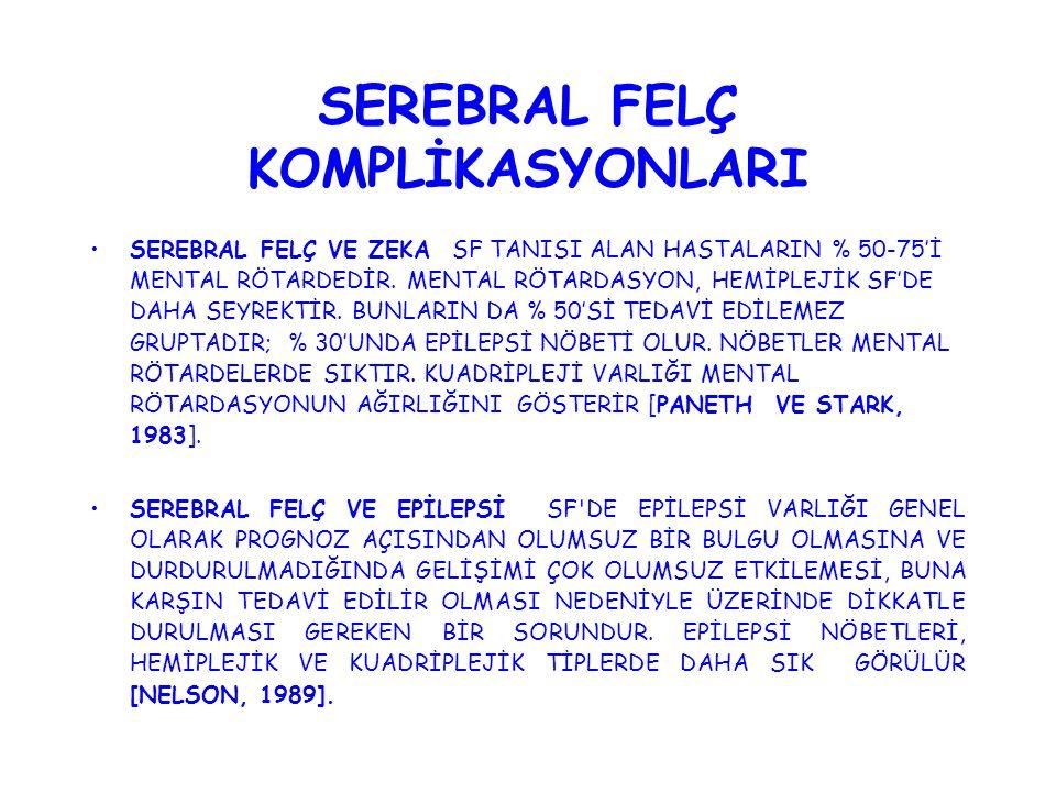 SEREBRAL FELÇ KOMPLİKASYONLARI