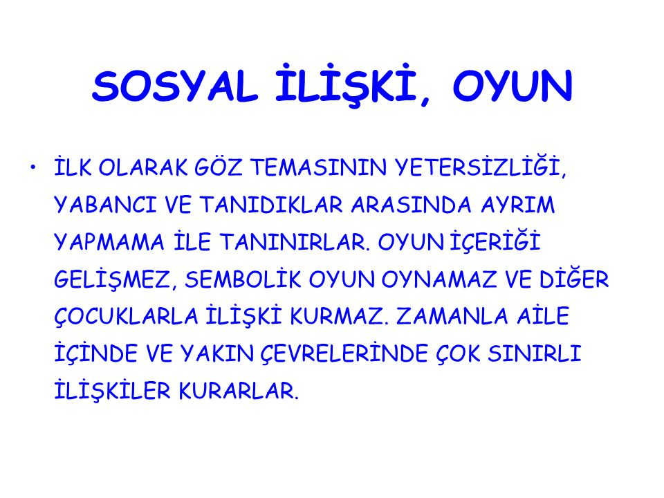 SOSYAL İLİŞKİ, OYUN