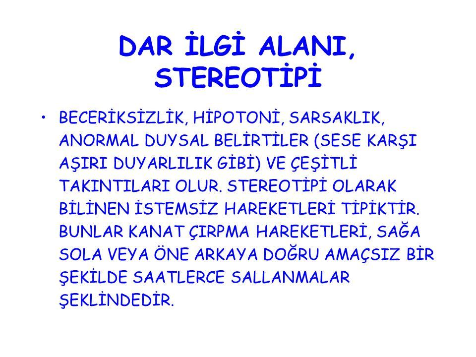 DAR İLGİ ALANI, STEREOTİPİ