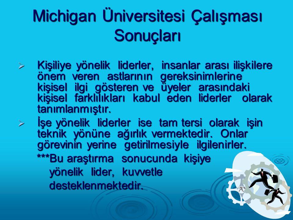 Michigan Üniversitesi Çalışması Sonuçları
