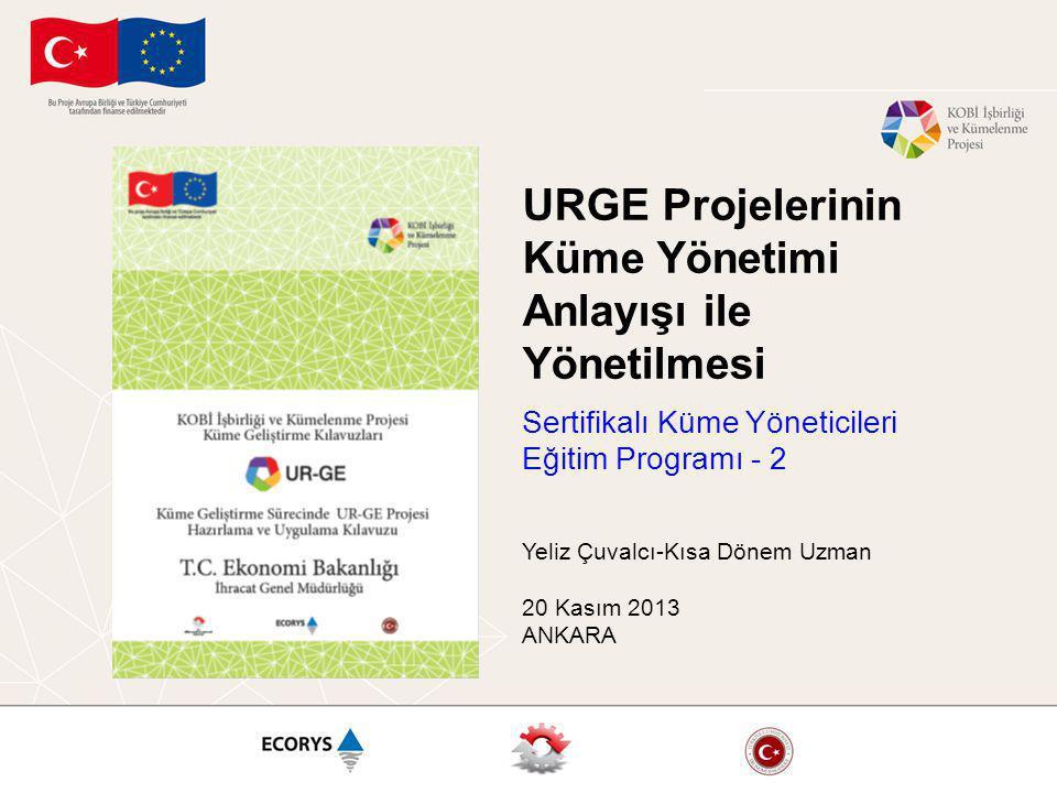 URGE Projelerinin Küme Yönetimi Anlayışı ile Yönetilmesi