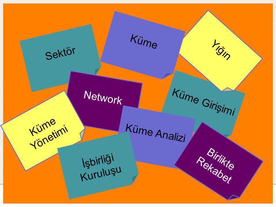 Küme Yığın Sektör Network Küme Girişimi Küme Yönetimi Küme Analizi