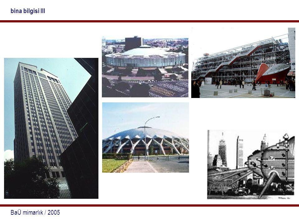 bina bilgisi III BaÜ mimarlık / 2005