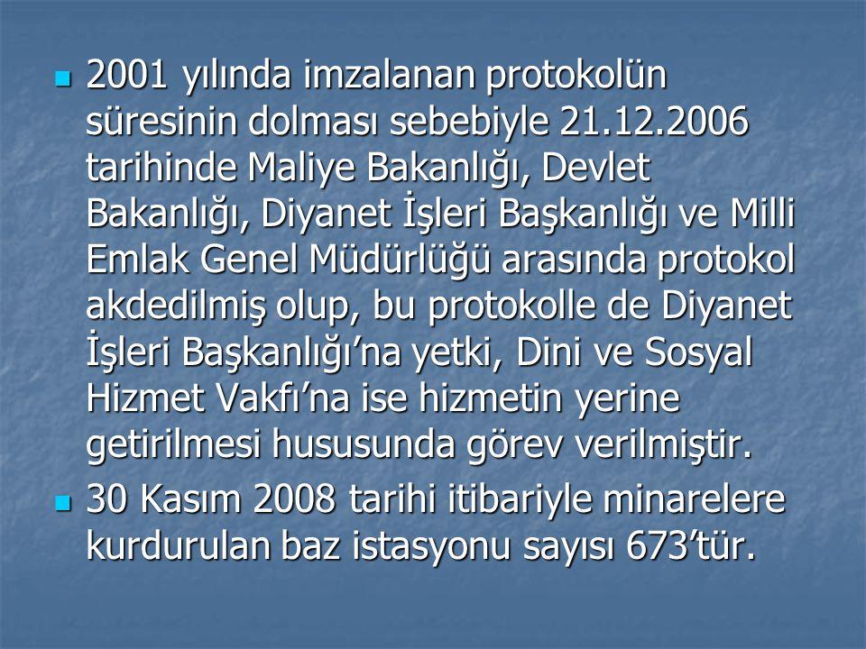 2001 yılında imzalanan protokolün süresinin dolması sebebiyle 21. 12