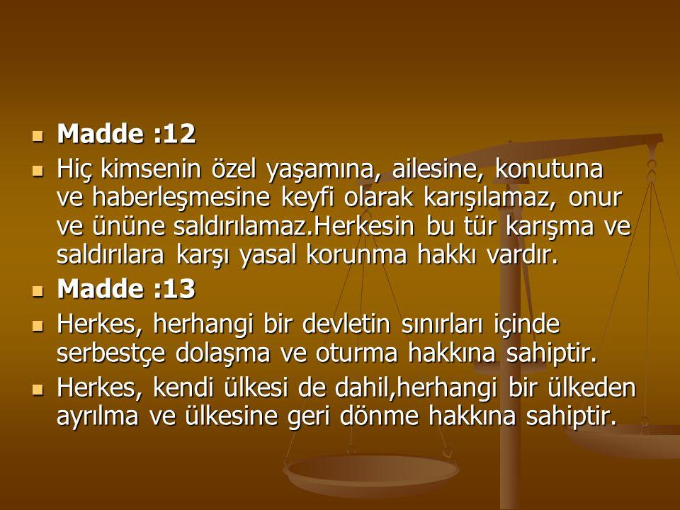 Madde :12