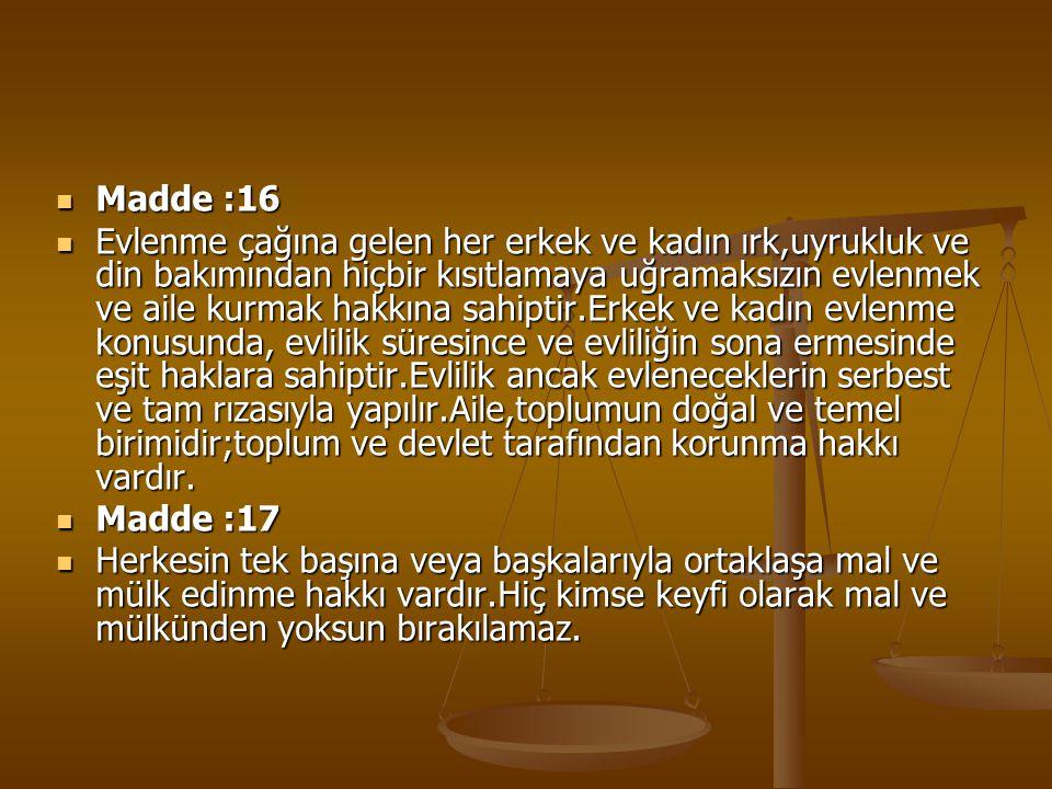 Madde :16