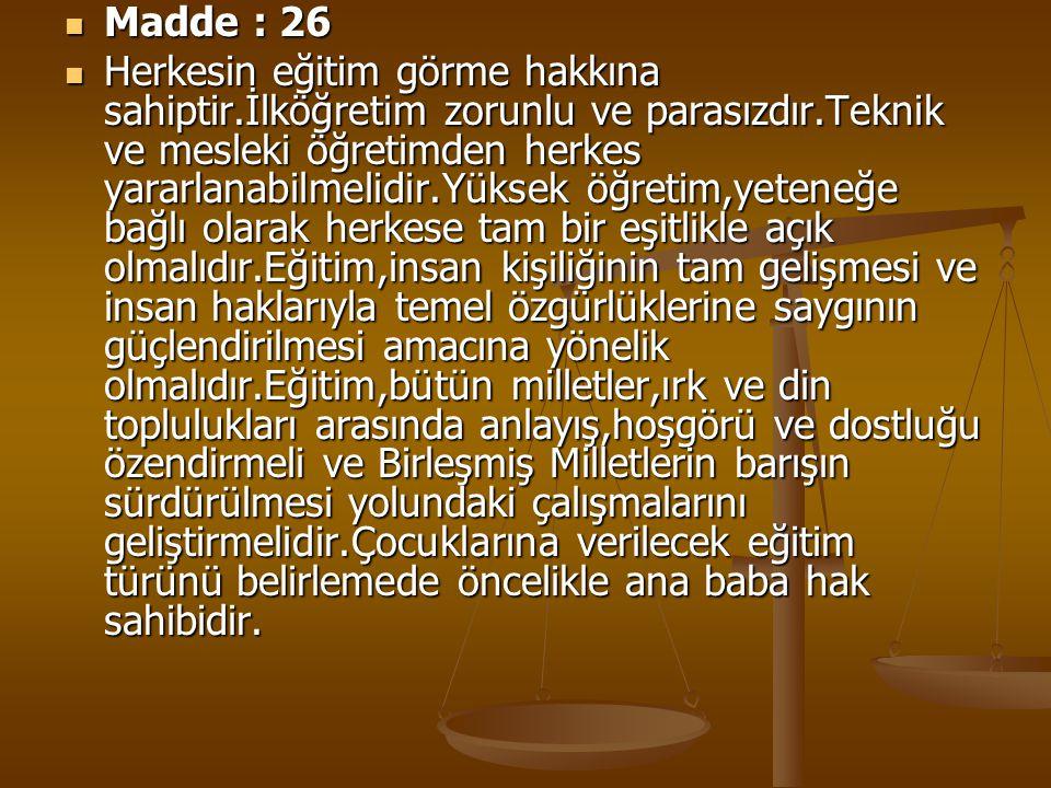 Madde : 26