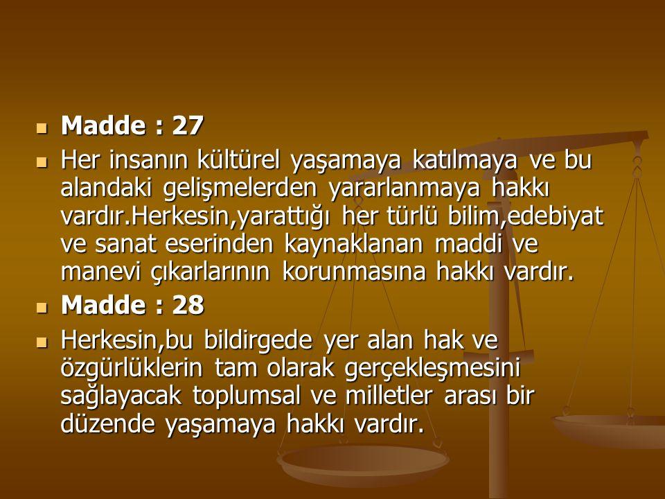 Madde : 27