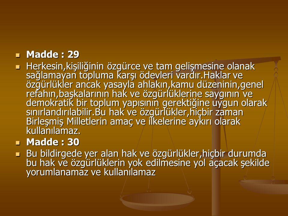 Madde : 29