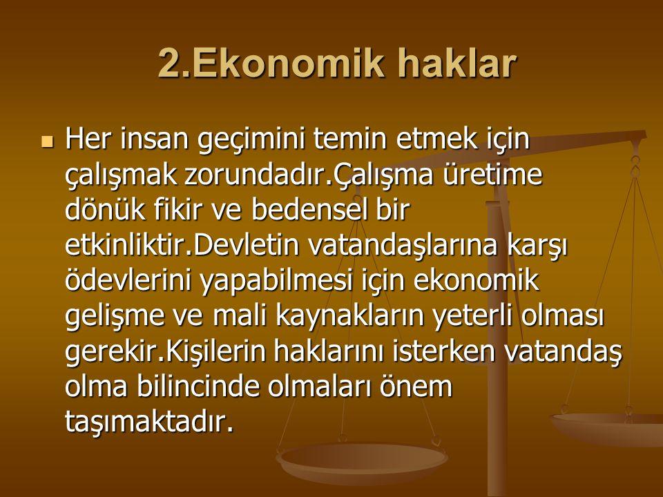 2.Ekonomik haklar