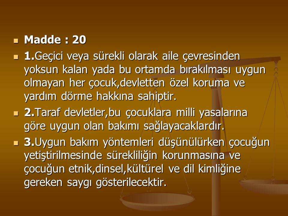Madde : 20