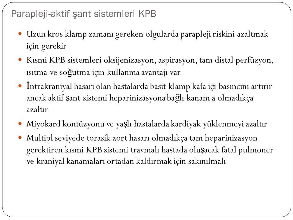 Parapleji-aktif şant sistemleri KPB