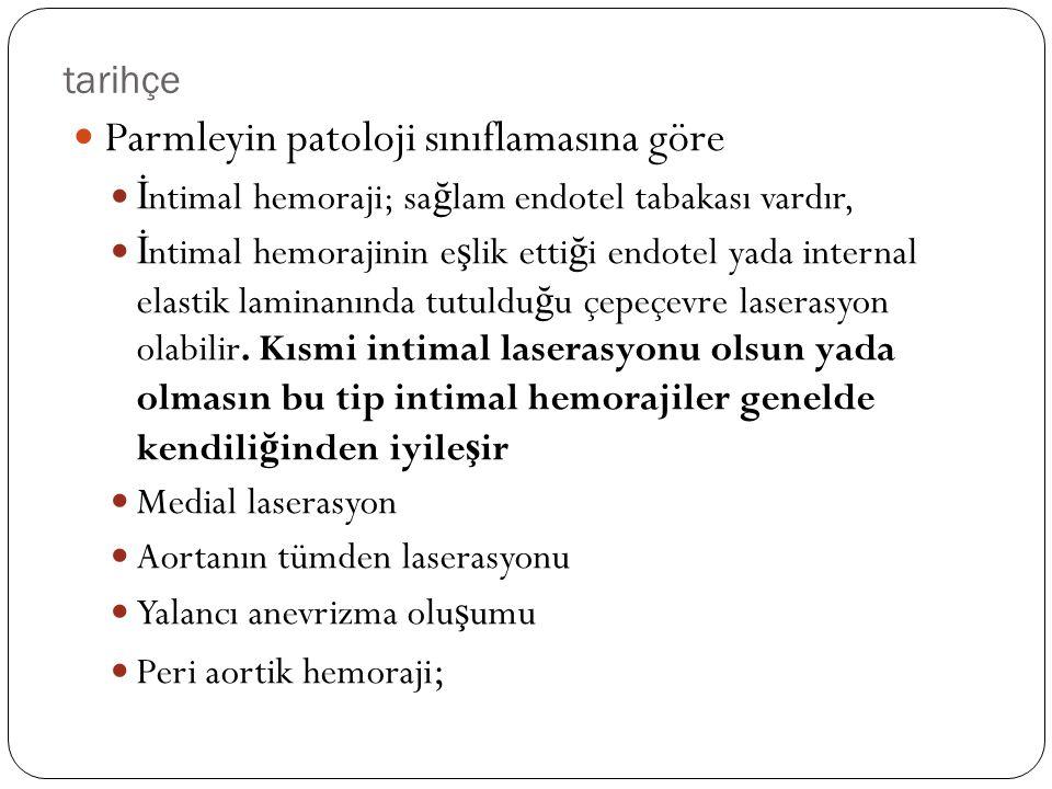 Parmleyin patoloji sınıflamasına göre