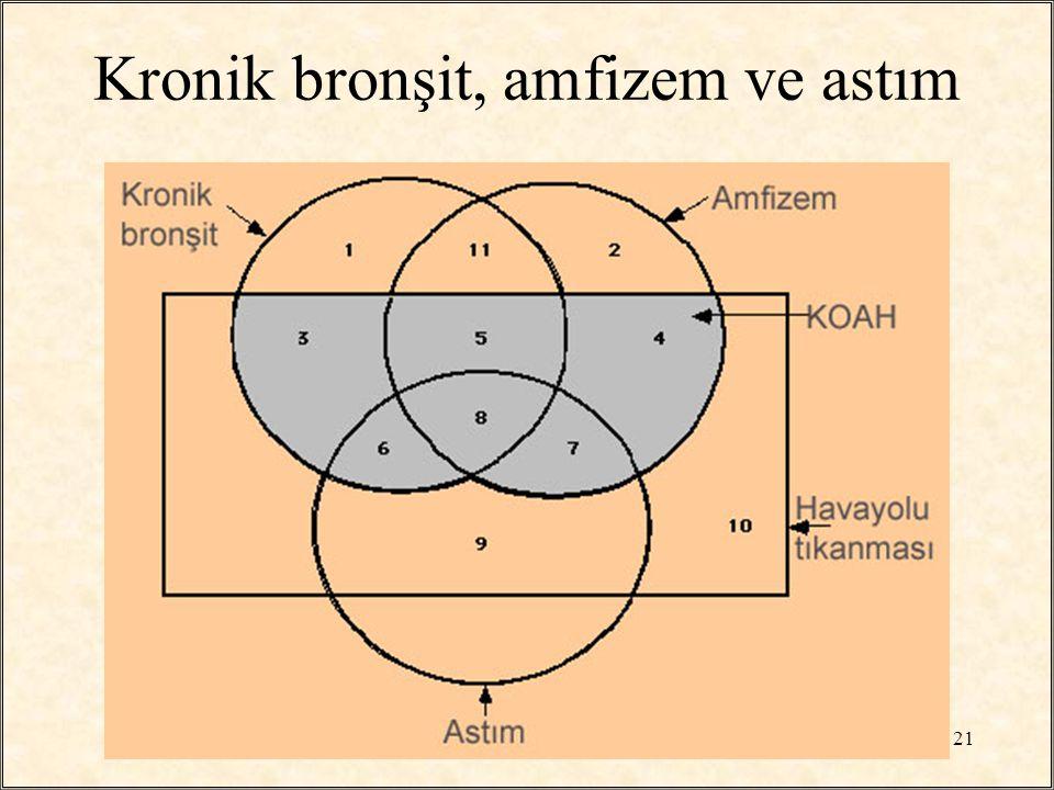 Kronik bronşit, amfizem ve astım