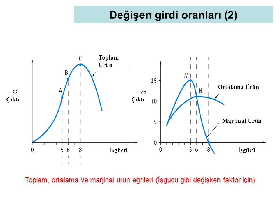Değişen girdi oranları (2)