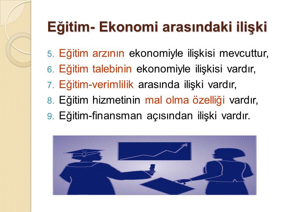 Eğitim- Ekonomi arasındaki ilişki