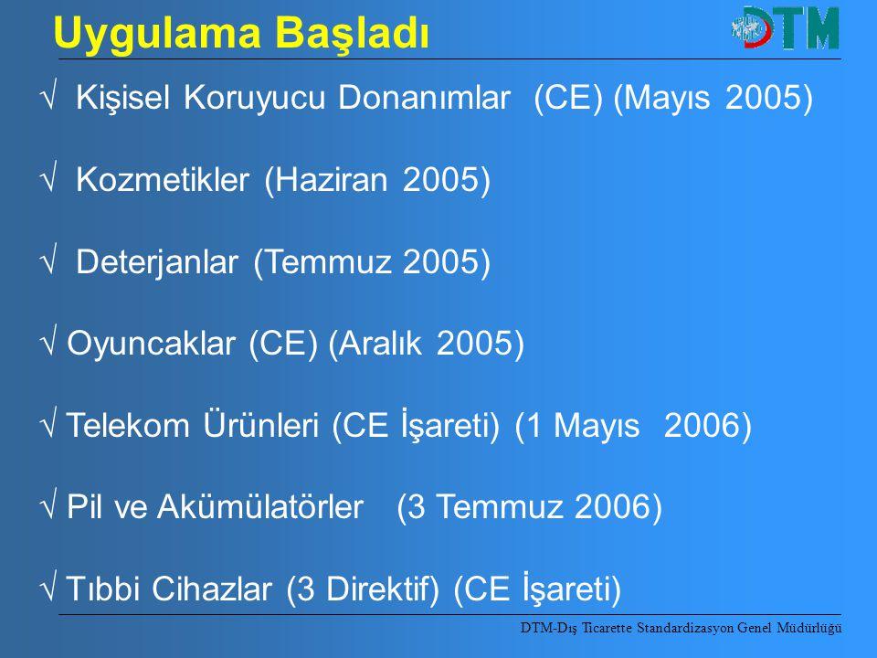 Uygulama Başladı √ Kişisel Koruyucu Donanımlar (CE) (Mayıs 2005)