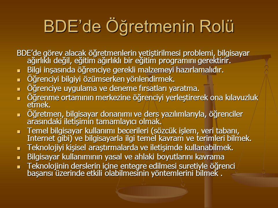 BDE'de Öğretmenin Rolü