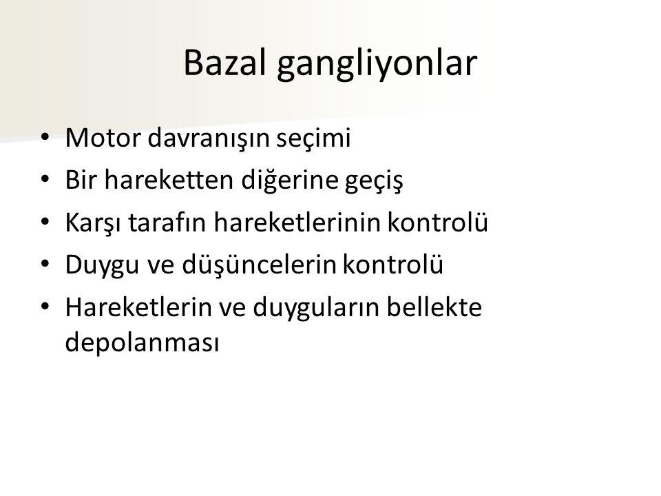 Bazal gangliyonlar Motor davranışın seçimi