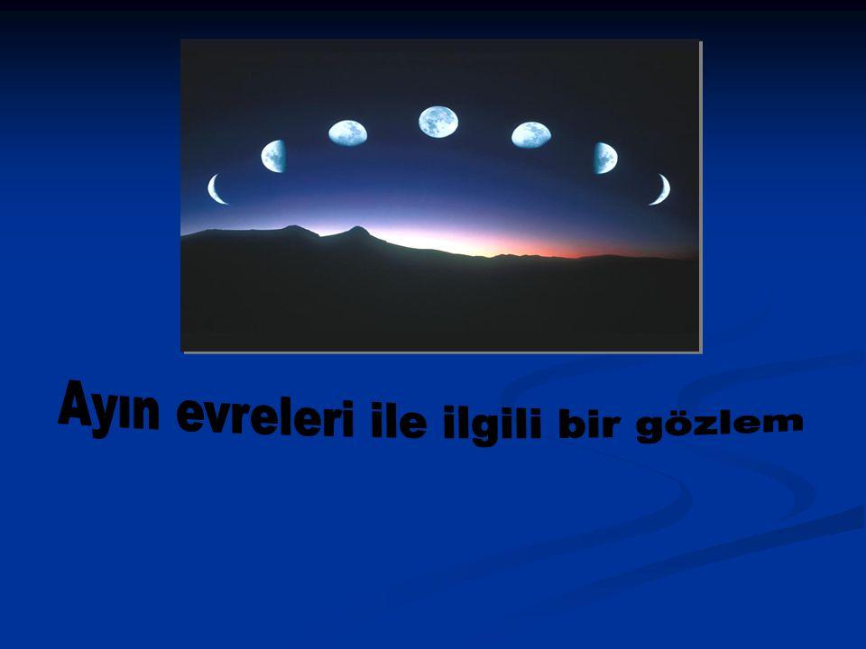 Ayın evreleri ile ilgili bir gözlem