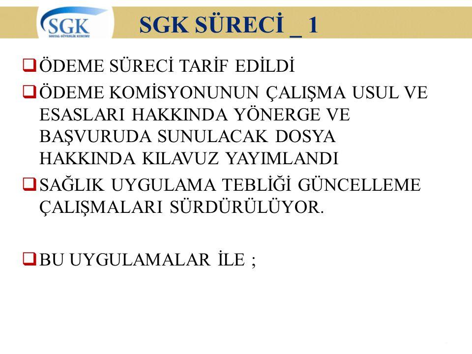 SGK SÜRECİ _ 1 ÖDEME SÜRECİ TARİF EDİLDİ