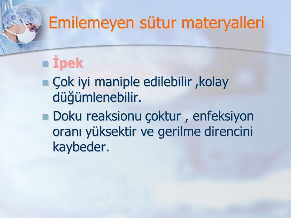 Emilemeyen sütur materyalleri