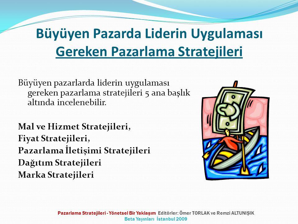 Büyüyen Pazarda Liderin Uygulaması Gereken Pazarlama Stratejileri