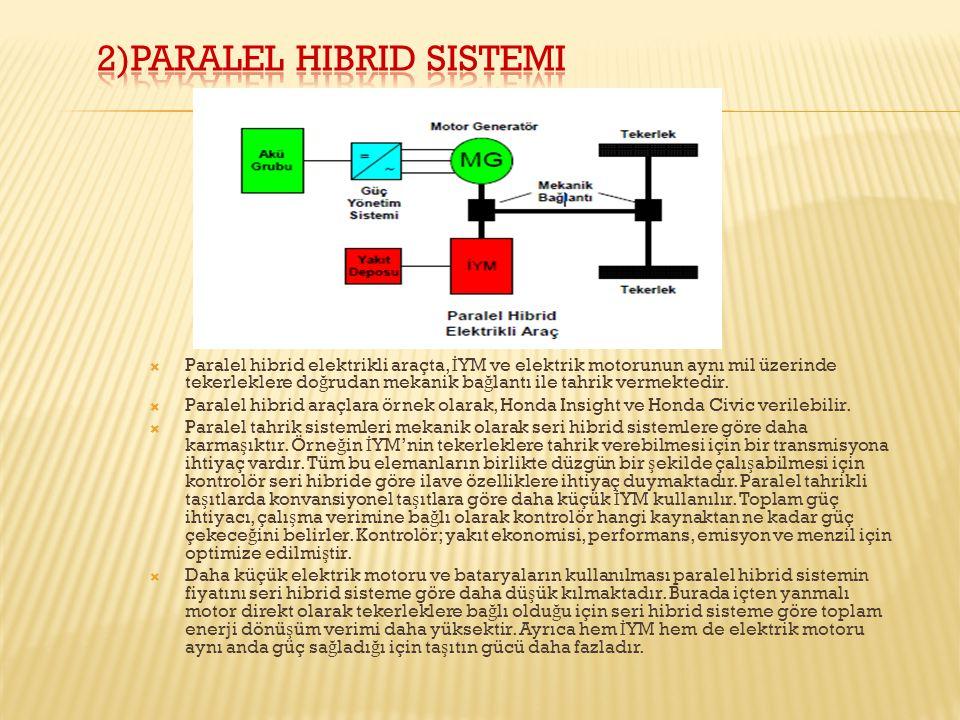 2)Paralel hibrid sistemi