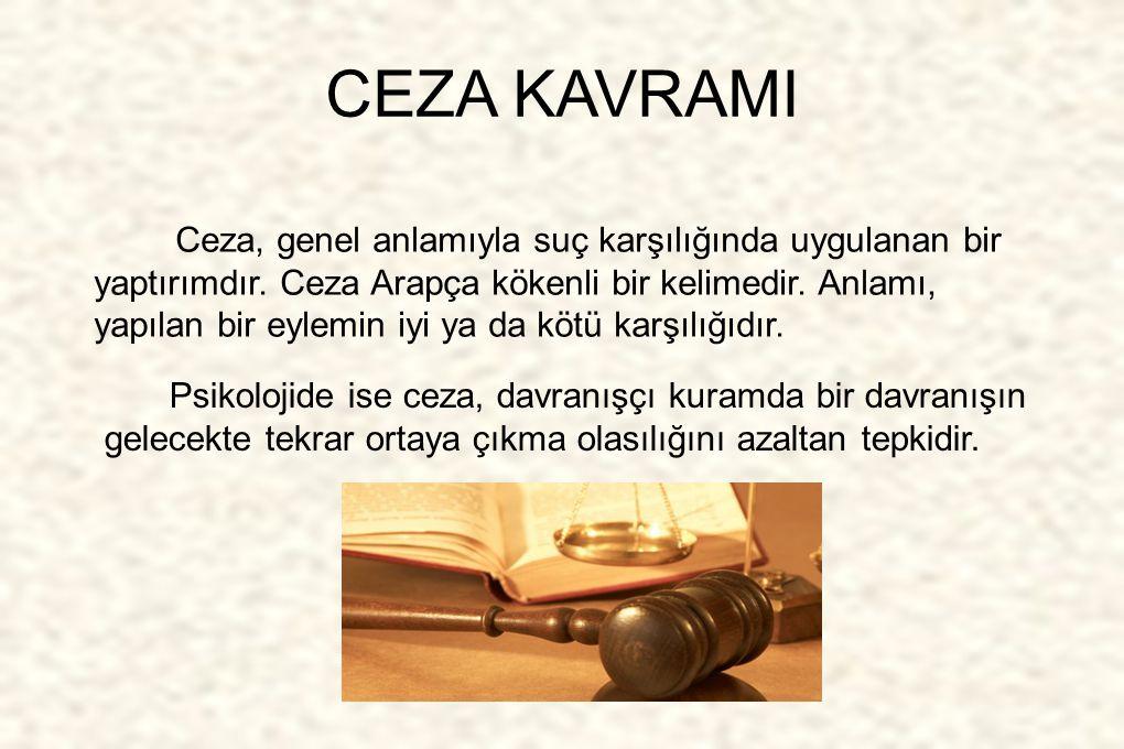 CEZA KAVRAMI