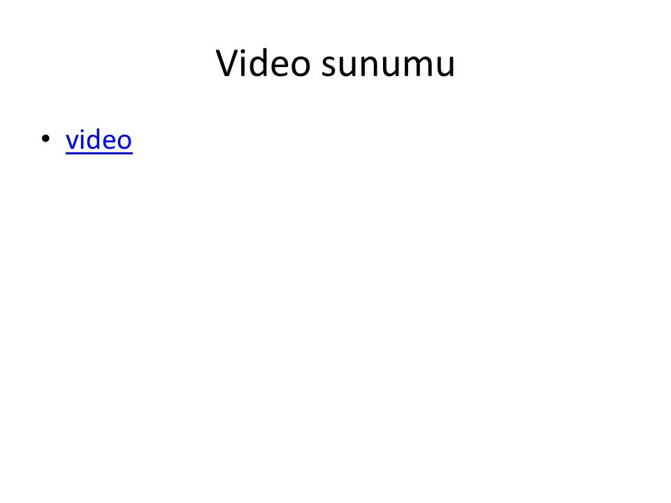 Video sunumu video