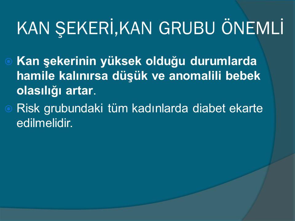 KAN ŞEKERİ,KAN GRUBU ÖNEMLİ