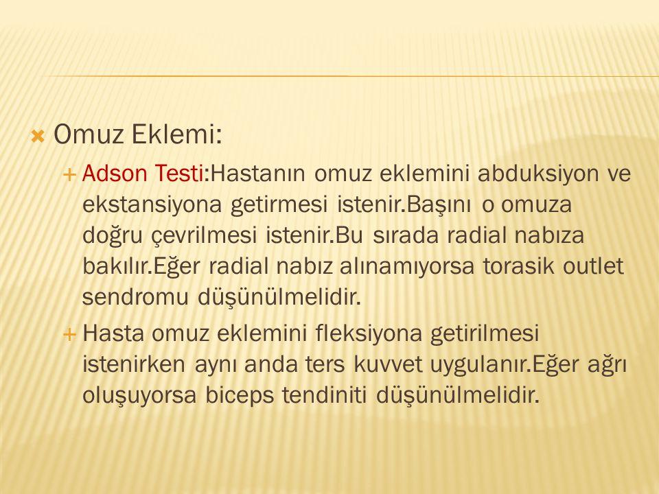 Omuz Eklemi: