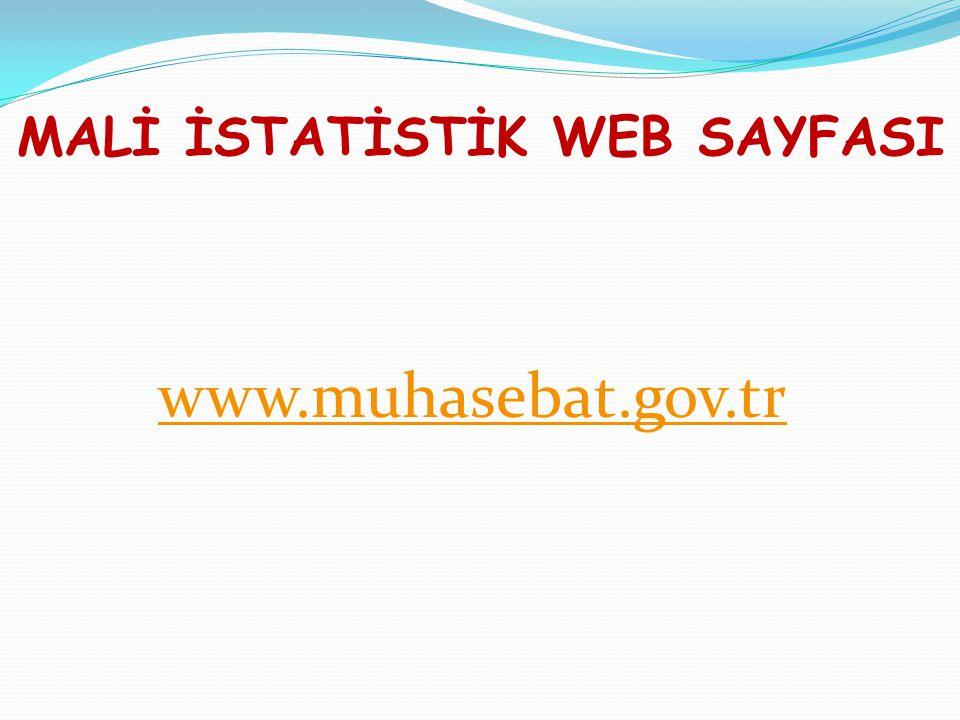 MALİ İSTATİSTİK WEB SAYFASI