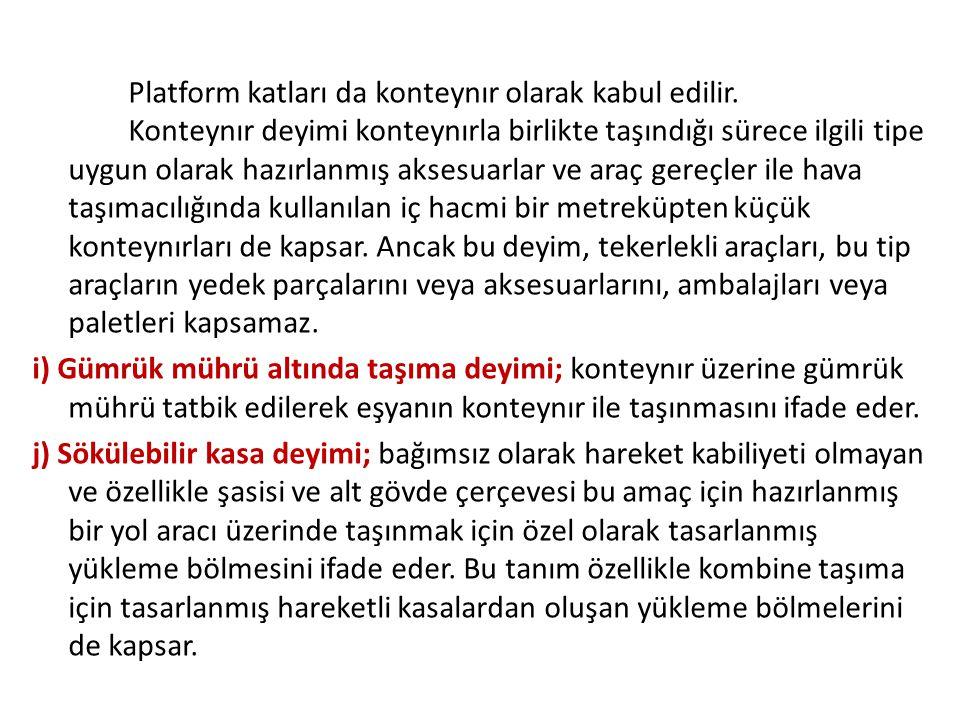 Platform katları da konteynır olarak kabul edilir