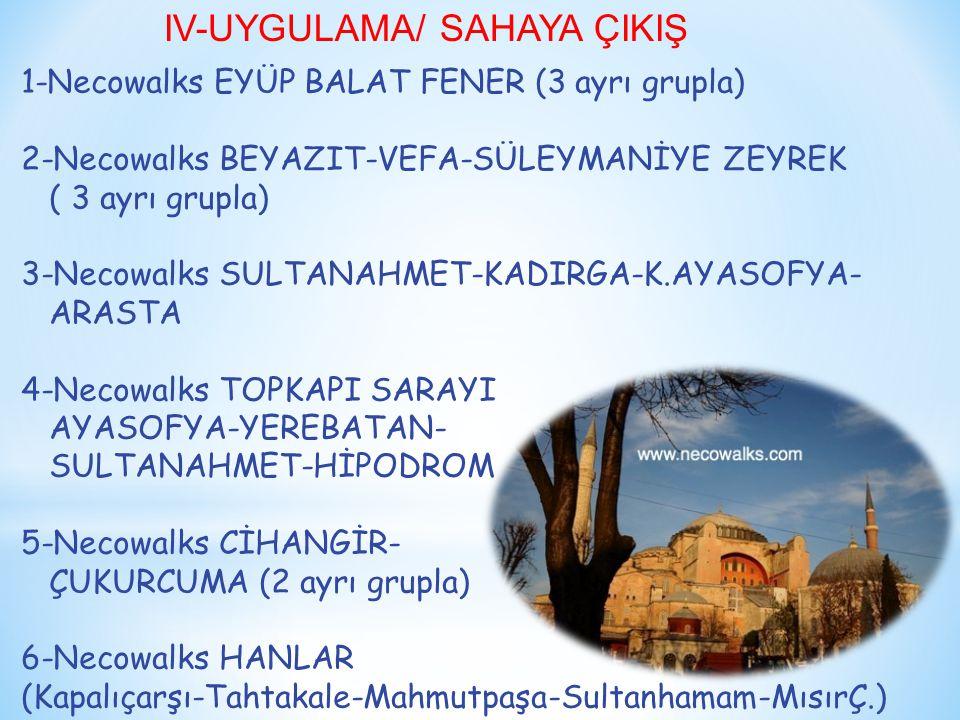 IV-UYGULAMA/ SAHAYA ÇIKIŞ