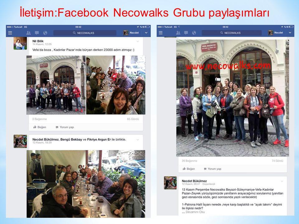 İletişim:Facebook Necowalks Grubu paylaşımları