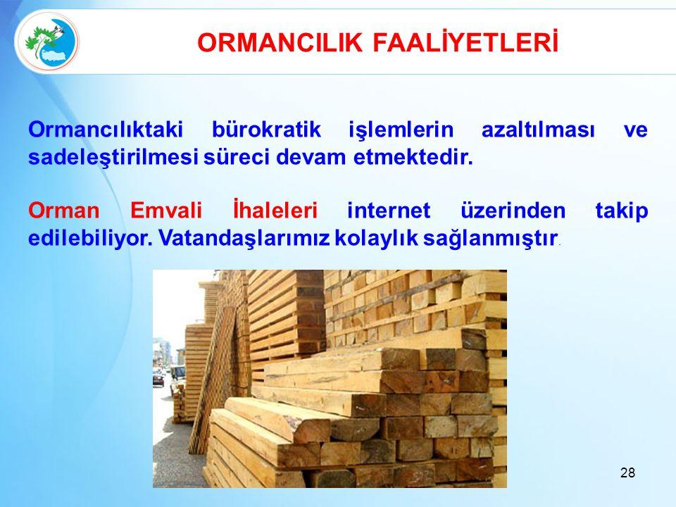 ORMANCILIK FAALİYETLERİ