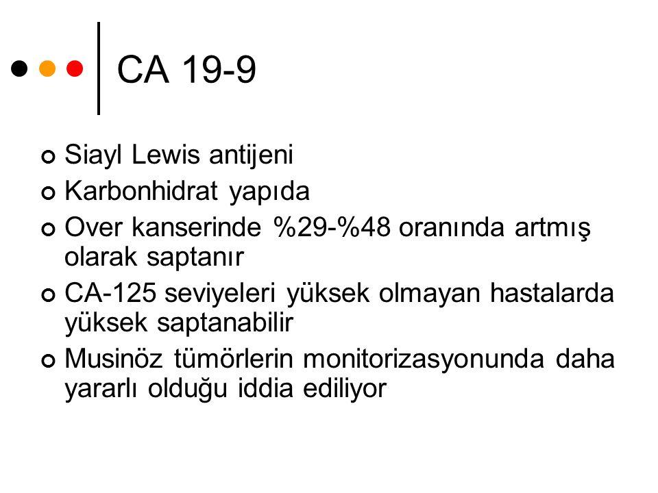 CA 19-9 Siayl Lewis antijeni Karbonhidrat yapıda