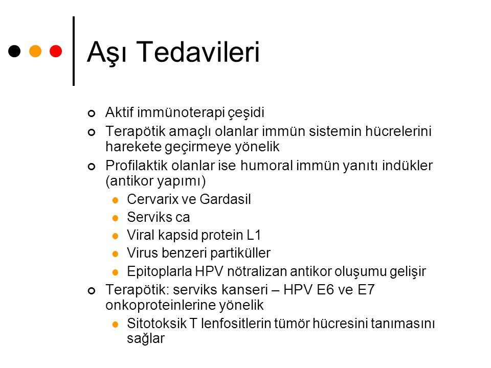 Aşı Tedavileri Aktif immünoterapi çeşidi