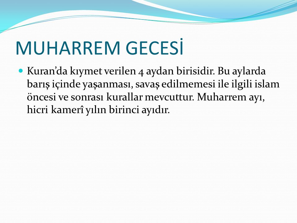 MUHARREM GECESİ