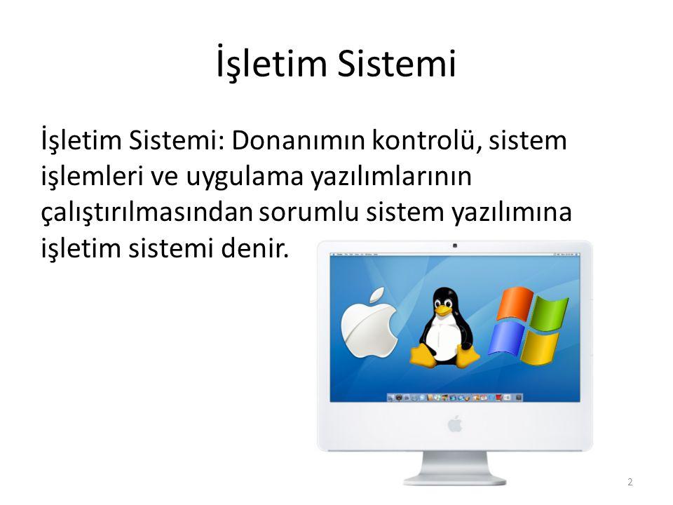 İşletim Sistemi