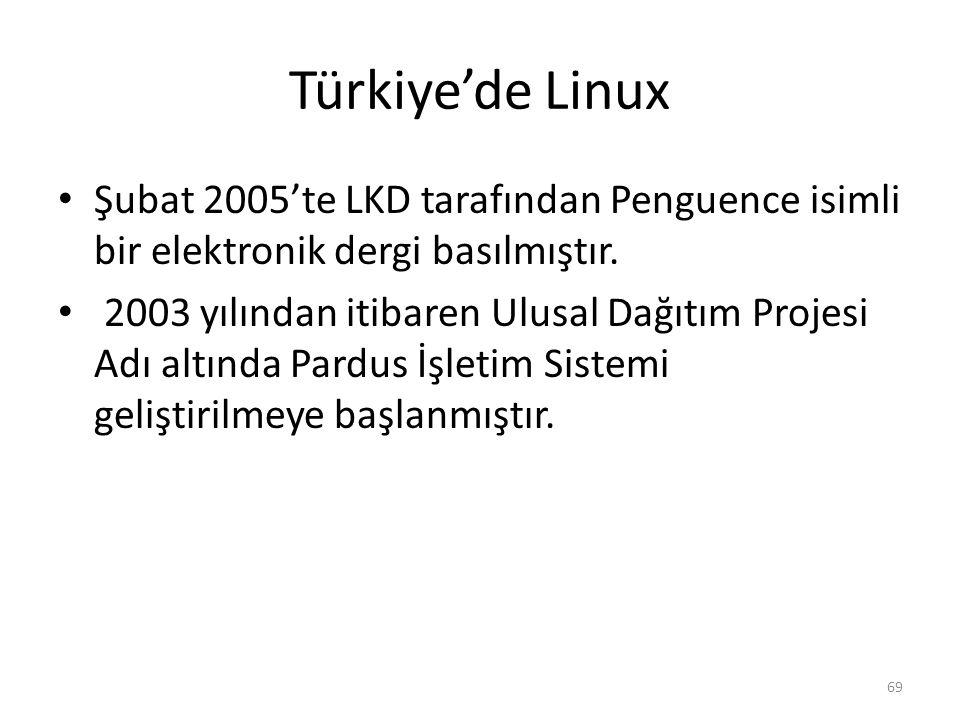 Türkiye'de Linux Şubat 2005'te LKD tarafından Penguence isimli bir elektronik dergi basılmıştır.