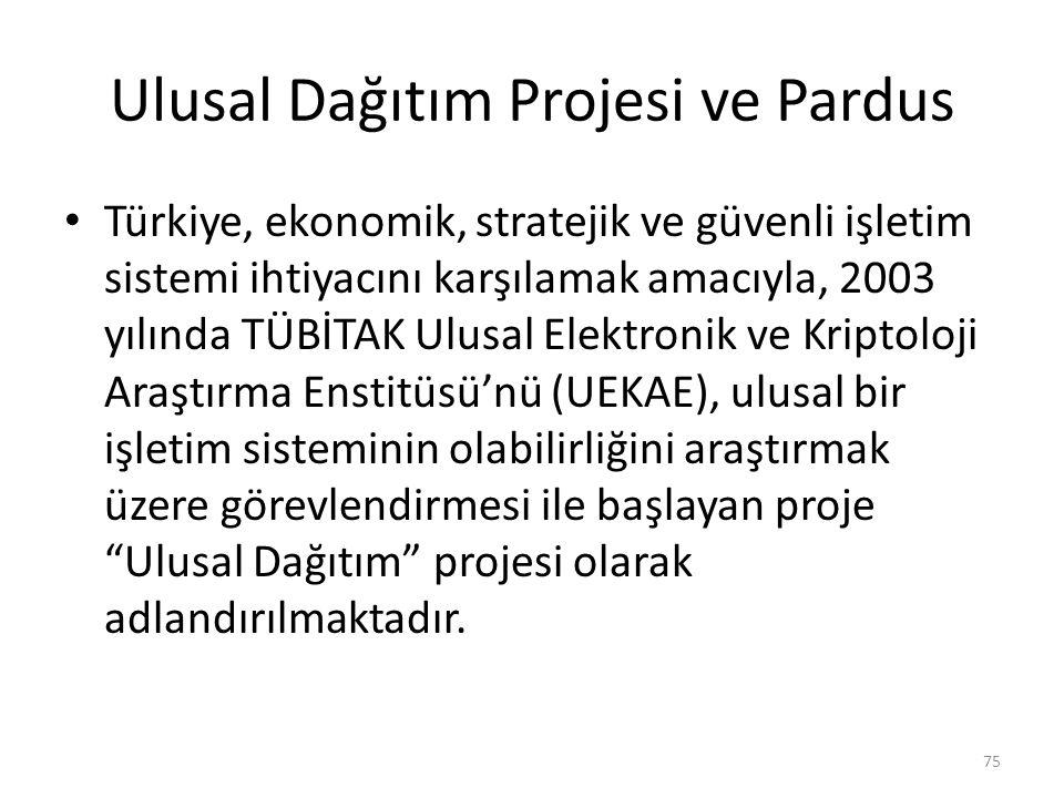 Ulusal Dağıtım Projesi ve Pardus
