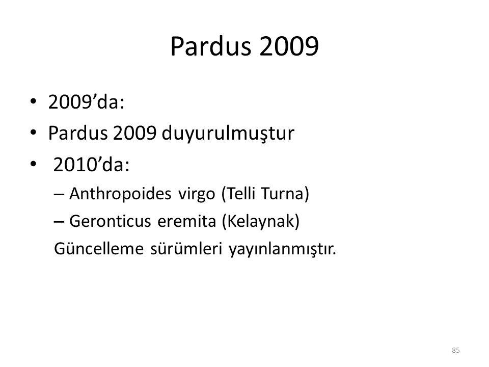 Pardus 2009 2009'da: Pardus 2009 duyurulmuştur 2010'da: