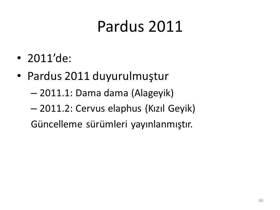 Pardus 2011 2011'de: Pardus 2011 duyurulmuştur