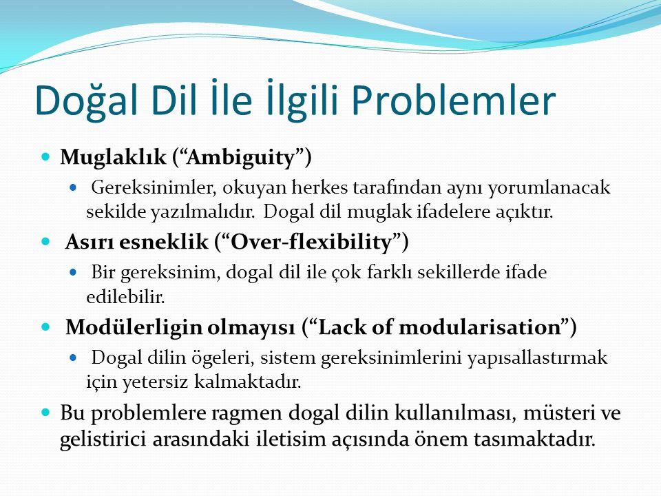Doğal Dil İle İlgili Problemler