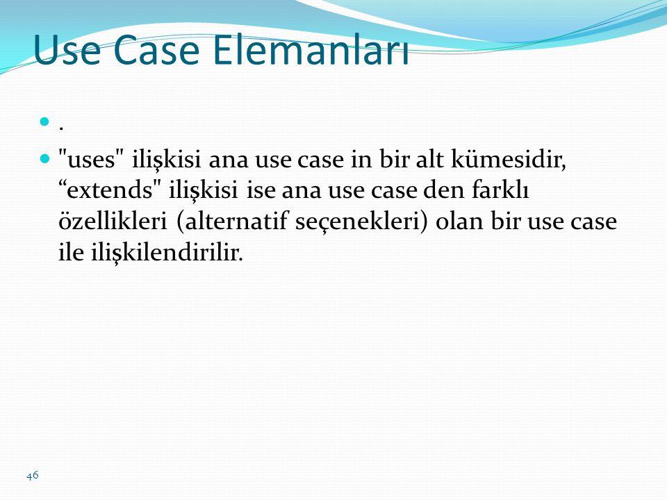 Use Case Elemanları .