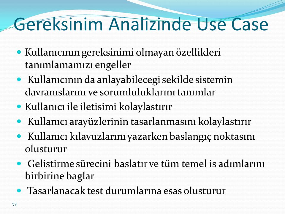 Gereksinim Analizinde Use Case
