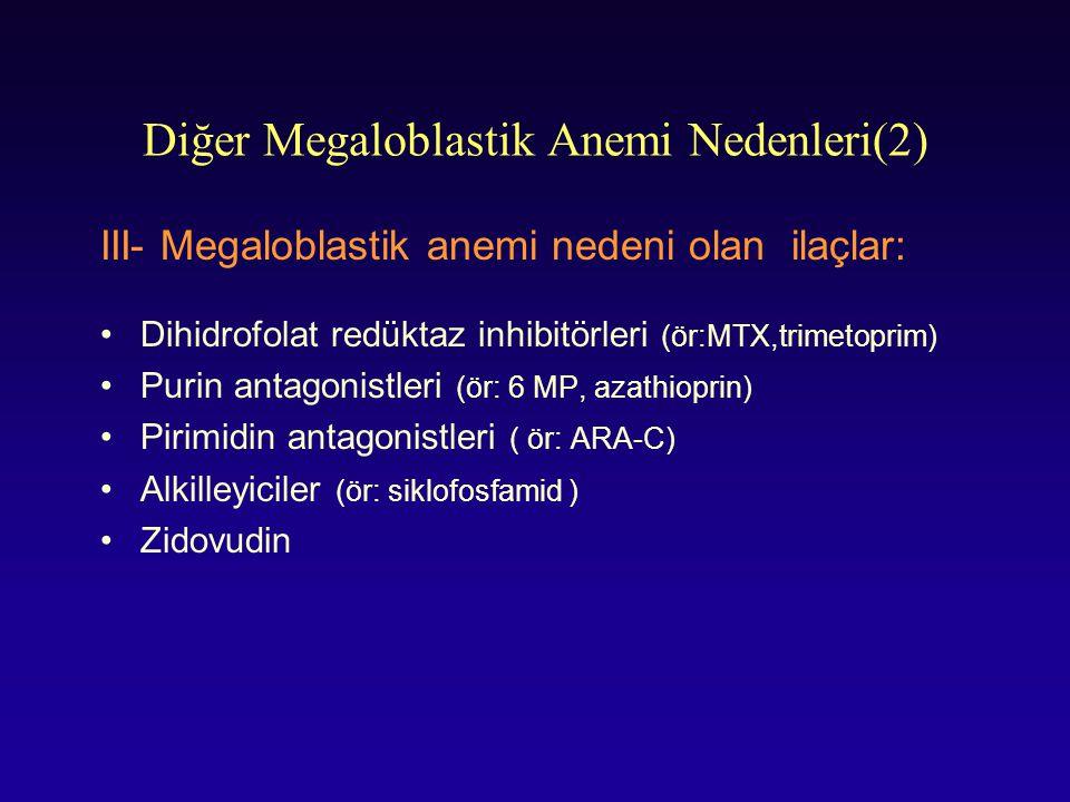 Diğer Megaloblastik Anemi Nedenleri(2)
